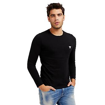 猜 L/S 超薄 T恤 - 黑色