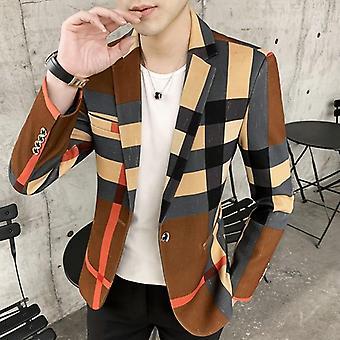 Men & apos;s Suits الفائز بالأزياء البريطانية ستايل سليم عارضة بليزر