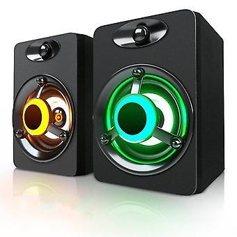 Usb Wired Mini Led Bass Stereo Subwoofer Pc Speaker & Loundspeaker 3.5mm Aux In