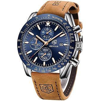 BENYAR Watches for Men Chronograph Analogue Quartz Movement Wrist Watch