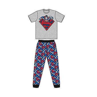 Superman Mens Logo Short-Sleeved Pyjamas