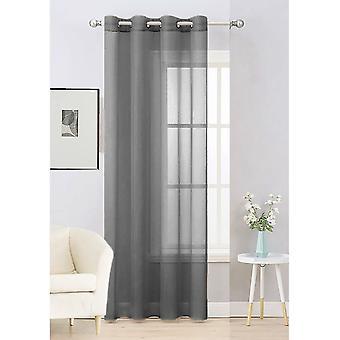 Plain Voile Curtain 1 Panel Lucy Eyelet Ring Top Heading - Net & Voile Gordijnen