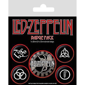 Led Zeppelin Symbole Abzeichen Set (Packung mit 5)