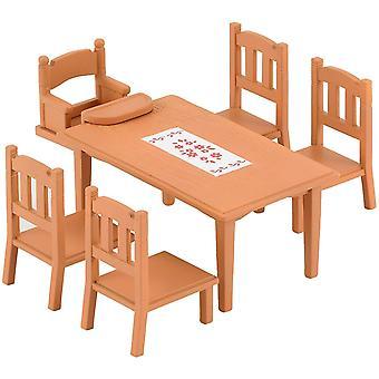 Famílias silvestres - mesa de família e cadeiras