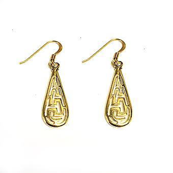 فضة 18 قيراط الذهب تراكب مطلي اليونانية الرئيسية المتدلي