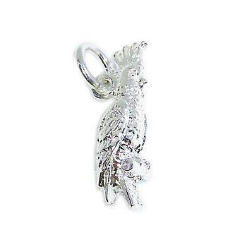 Cokatoo Papagei Sterling Silber Charm .925 X 1 Cokatoos & Papageien Charms - 8444