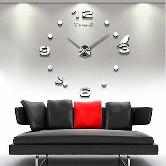 Emoyo jm008 kreative große diy Wanduhr moderne 3D Wanduhr mit Spiegel Zahlen Aufkleber für Home-Office-Dekorationen