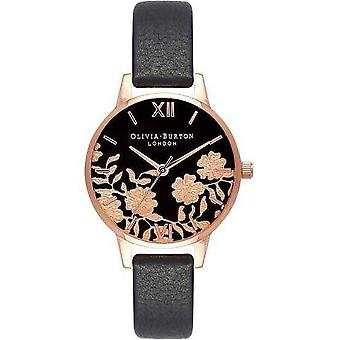 OLIVIA BURTON OB16MV75 Lace Detail Black Dial Ladies Watch