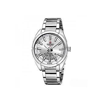 Naviforce Mens Homage Quartz Watch Silver Watches Fashion Designer Gift