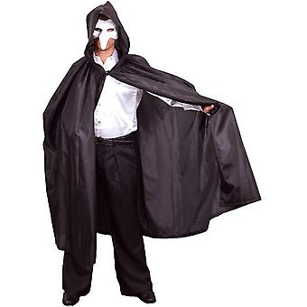Hooded Dress-Up Satin Black