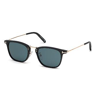 Tom Ford Beau TF672 02N Matte Black/Green Sunglasses