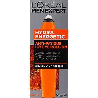 3 x L'Oréal Paris Men Expert Hydra Energetic Anti-Fatigue Eye Roll-on 10ml