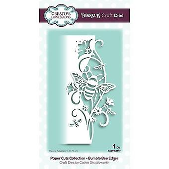 Creative Expressions Paper Cuts Collectie Cutting Dies - Bumble Bee Edger