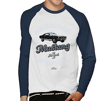 Ford Mustang Hot Fuel Men's Baseball Long Sleeved T-Shirt