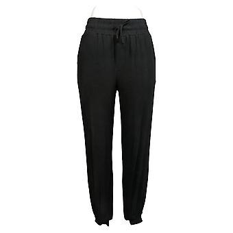 Alle Kvinder 's Petite Pants Loungewear Hyggeligt Strik Jogger Sort A294930
