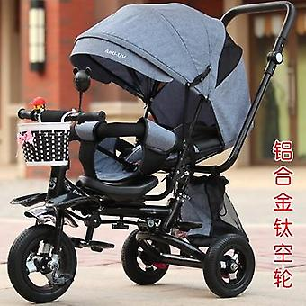 Light Folding Tricycle Can Lie Recline Three Wheels Baby Tricycle