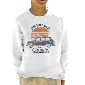 London Taxi Company TX4 Im Inte Gammal Im En klassisk Kid's Sweatshirt