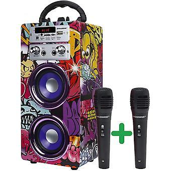 HanFei (3. Gen) Bluetooth Lautsprecher fr Karaoke MP3 Player Boxen Akku-Lautsprecherbox 025 (Modell