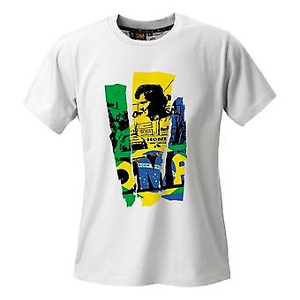 Mænds kortærmede T-shirt OMP Ayrton Senna Hvid/XXL