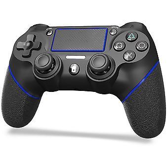 Ps4 kontroller, vezeték nélküli kontroller PS4 / Pro / Slim / PC, dual vibration six axis gamepad vezérlővel, 3,5 mm-es Bluetooth Joystick fejhallgató Playstation 4-hez (fekete)