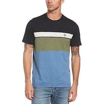 Original Penguin Colour Block T-Shirt - Dark Sapphire