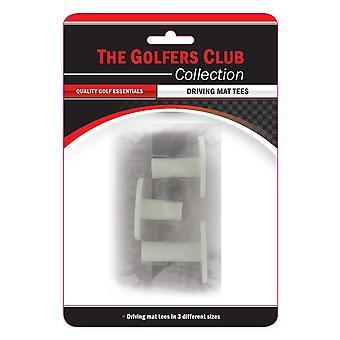 Golfers Club Driving Range Mat Tees Pack 3 heights