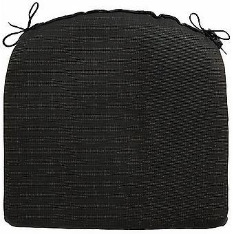 sitzkissen Rib 46 x 48 cm dralon schwarz