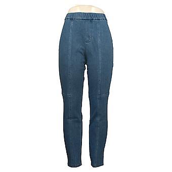 Isaac Mizrahi En vivo! Pantalones de mujer regular punto de mezclilla azul A371384