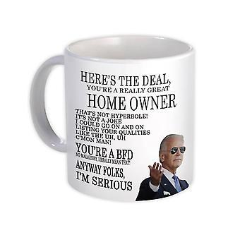 هدية القدح: هدية لمالك المنزل جو بايدن أفضل