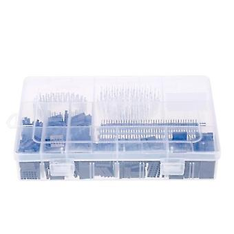 1450PCS 2.54mm PCB Jumper Wire Pin Header Connector Female Male 40Pin Box Packaging Kit Electronic Components Set for Arduino Dupont