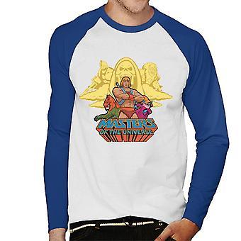 Masters of the Universe Logo Good Vs Evil Men&s Baseball Långärmad T-Shirt