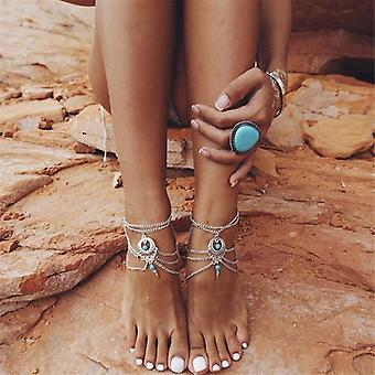 Summer Hollow Charm Foot Chain Ankle Bracelet