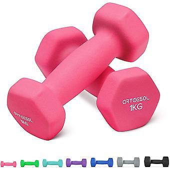 FengChun Neopren Hanteln, Kurzhanteln 2er-Set 1kg/2kg/3kg/4kg/5kg/8kg/10kg rutschfest Fitness