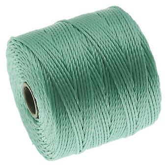 Super-Lon (S-Lon) Cord - Size 18 Twisted Nylon - Turquoise / 77 Yard Spool