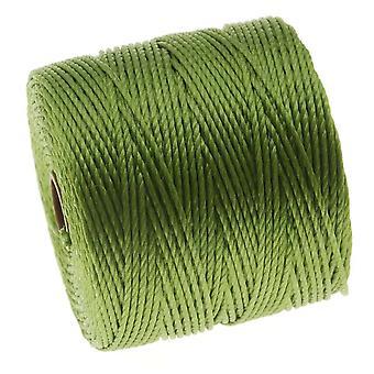 Super-Lon (S-Lon) Cord - Size 18 Twisted Nylon - Avocado / 77 Yard Spool