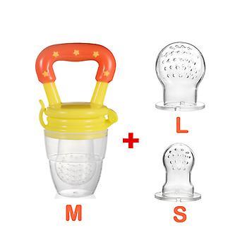 3 In 1 Baby Learn Feeding Nipple Fresh Food Fruit Milk Bottles Nibbler Teething Pacifier Drinking Water Straw