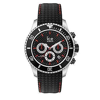 Ice-Watch - آيس ستيل بلاك ريسينج - ساعة رجال حزام جلدي - 017669، كبير، أسود