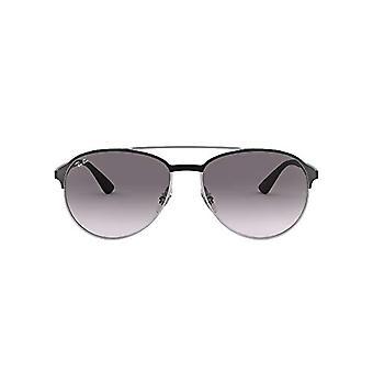 Ray-Ban 0RB3606 Sonnenbrille, Schwarz (Silver On Top Matte Black), 59 Herren