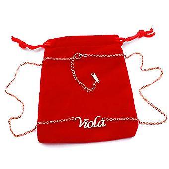 KL Kigu - Violetti kullattu naisten kaulakoru, nimi, muodikas, lahja tyttöystävälle, äidille, siskolle