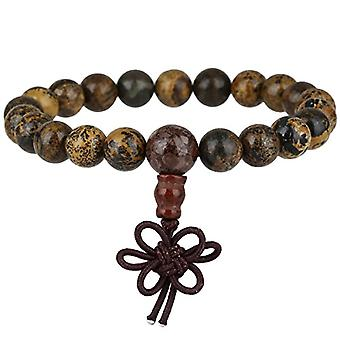 KYEYGWO 21 Mala bracelets with Chakra beads for men and women, unisex, with Reiki crystal stones, color: Flower diaspro Ref. 0715444069321