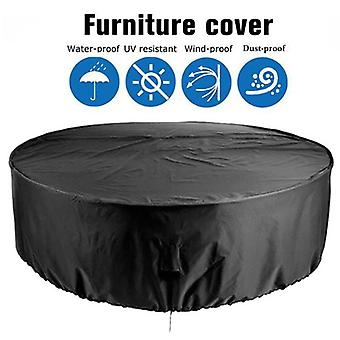 Mimigo Patio Furniture Covers,  Outdoor Furniture Covers Waterproof Round Table Cover Heavy Duty Cover Tough Canvas Uv Resistant Dustproof Anti-fading