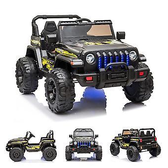 ES-Toys barn elbil offroad, EVA däck, lädersäte, MP3, batteriindikator