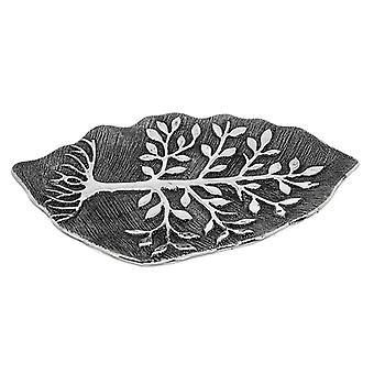 Tree of Life Leaf Plate Gunmetal Ornament