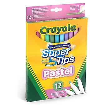 Set of Felt Tip Pens Pastel Crayola Washable (12 uds)