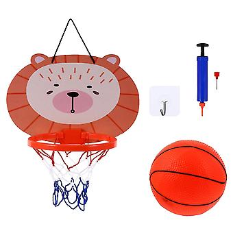 1 conjunto de aro de basquete pendurado com mini basquete para quarto de home office
