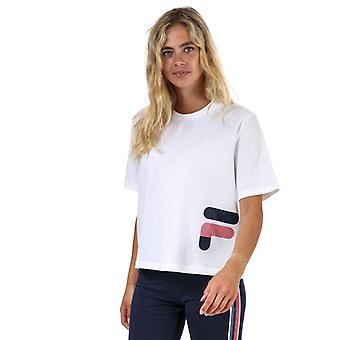 Naisten Fila Laboni kuvioitu graafinen t-paita valkoinen