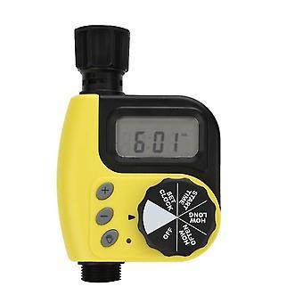 Minuterie d'arrosage des plantes de jardin, dripper de chronométrage automatique intelligent extérieur (jaune)