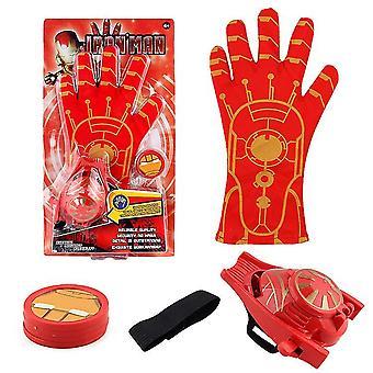 Kinder Spielzeughandschuh Sender, Zubehör Hero Handschuh Homecoming Superhero Dress Up Kostüme (Red3)