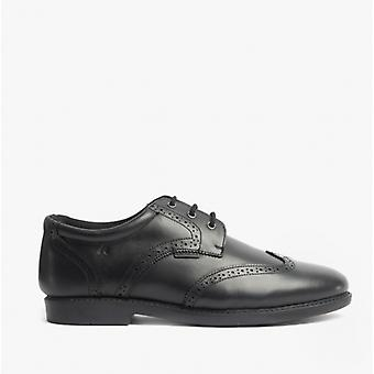 Hush Puppies Harry Jnr Boys Leather Lace-up Shoes Black