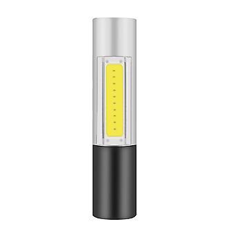 Lampe de poche LED 2000lm zoomable xpe + cob double lumière usb rechargeable torche portable q5 led lampe de poche construite en 18650 torche de batterie